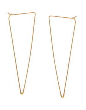Spike Triangle Threader Hoops
