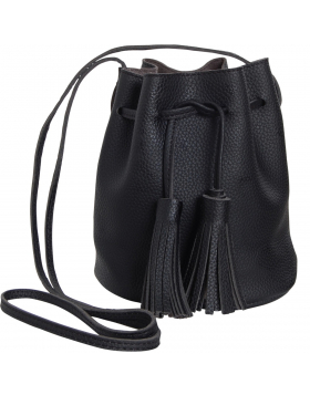 Tassel Bucket Bag - Vegan Leather