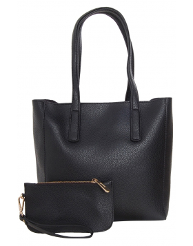 Pocket Shoulder Tote - Vegan Leather