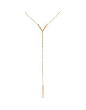 Y-Chain Bar Necklace